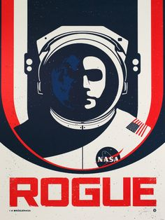 Rogue NASA by Justin Van Genderen - art print from King & McGaw Beautiful Book Covers, Fb Page, Nasa, Rogues, Art Direction, Illustrations Posters, Screen Printing, Cool Art, Graphic Design