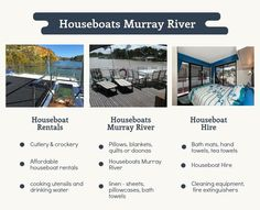 Houseboat Rentals, Murray River, Linen Sheets, Cleaning Equipment, Florida Keys, Drinking Water, Tea Towels, The Great Outdoors, Sailing