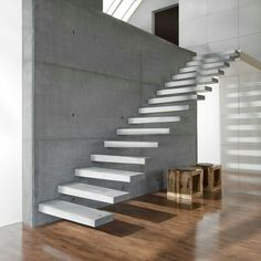Utah's first choice for precast concrete stair treads. Cantilever Stairs, Concrete Staircase, Precast Concrete, Wood Stairs, House Stairs, Polished Concrete, Luxury Staircase, Staircase Design