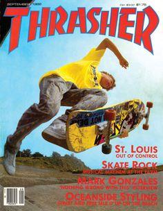 Gonz - Thrasher Magazine cover - September 1986