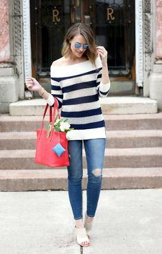 Casual spring stripes