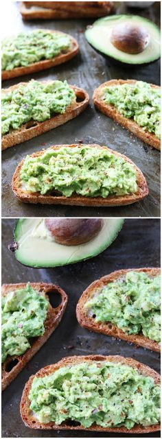 Garlic Bread Avocado Toasts on twopeasandtheirpod.com The BEST garlic bread ever!