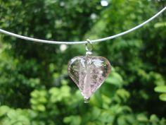 """""""Voor altijd in mijn hart"""" as in transparant glas."""