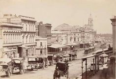 Swanston St,Melbourne in 1872.Photo from Statw Library of Victoria.A♥W