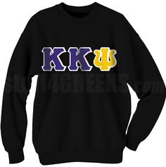 CUSTOM KAPPA KAPPA PSI CREWNECK SWEATSHIRT  Item Id: CUS-KKY-SWCR    Price: $59.00 Fraternity Shirts, Sorority And Fraternity, Kappa Kappa Psi, Greek Gear, Eastern Star, Sorority Outfits, Greek Clothing, Sibling, Birthday Presents