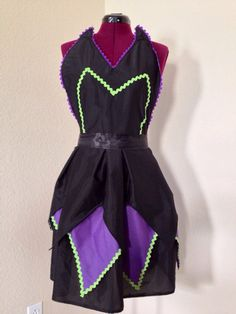 Maleficent inspired apron $25