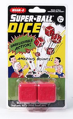 Whamo Vintage Superball Dice Set of 12 >>> See this great product. (Note:Amazon affiliate link) #ToysGames5To7Years