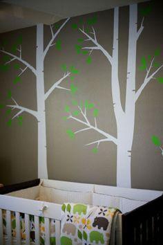 Tree Wall Art Example Nursery Room, Kids Bedroom, Nursery Decor, Bedroom Ideas, Outdoor Wall Art, Outdoor Walls, Kids Room Murals, Wall Murals, Wall Tattoo