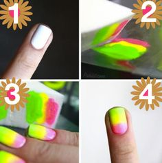 How to Create a Neon Tie-Dye Manicure | Makeup.com