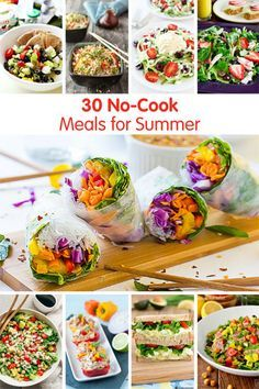 30 No-Cook Meals for Summer! Don't heat up the kitchen, these no-cook recipes are easy to throw together on hot summer days! @produceforkids