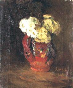 ion-andreescu-ulcica-cu-flori Illustrations, Roman, Painters, Bouquets, Bunch Of Flowers, Artist, Drawings, Bouquet, Illustration