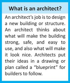 "Unit Block week continues: here's a definition to help your child learn about architecture along with 3 ""blueprint"" activities"