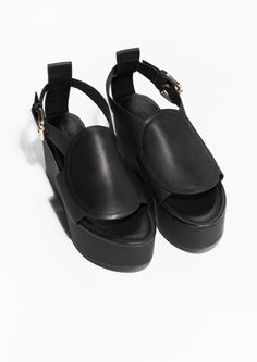 & Other Stories | Ankle Strap Leather Wedges