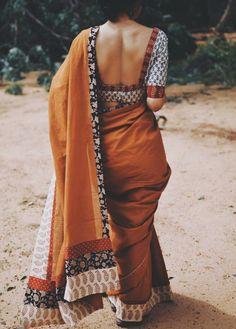 Cotton Saree Blouse Designs, Fancy Blouse Designs, Indian Fashion Dresses, Dress Indian Style, Saree Wearing Styles, Saree Styles, Stylish Blouse Design, Saree Trends, Kurta Designs Women