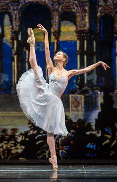 Anastasia Stashkevich performing the Pas de Deux from Le Talisman at Dance Open Vilnius 2013. Photo by Jack Devant