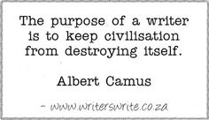 Camus on the Purpose of Writing
