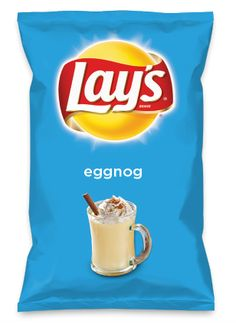 Wouldn't eggnog be yummy as a chip? Lay's Do Us A Flavor is back, and the search is on for the yummiest flavor idea. Create a flavor, choose a chip and you could win $1 million! https://www.dousaflavor.com See Rules.