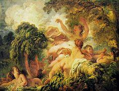 Jean-Honoré Fragonard: Bagnanti (del Louvre)