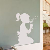 Little Girl with a Dandelion - Wall Decals