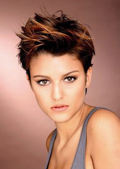 Brown pixie with auburn tones - would love to try this