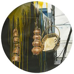 Artville artist of the day: Subodh Gupta (Untitled) Year: 2006 Medium: Oil on canvas Diameter: 71.5 in (181.6 cm) Category: Painting Style: Still Life  #artvilleartistoftheday #artville #subodhgupta #art #oilpainting #stilllife