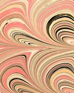 Modern 20th c. marbled paper, Cathedral pattern by Don Guyot