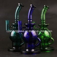 Colorful mothership glass water pipe for smoking