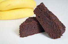 Chokolade-banankage, uden mel og sukker.