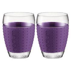 Bodum Pavina 2pc Glass Set w/ Silicone Band 450ml - Purple $28.95