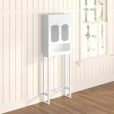 Lark Manor Chapeau W x H x D Remove Free-Standing Over-the-Toilet Storage Cabinet Shelving, Open Shelving, Adjustable Shelving, Tall Cabinet Storage, Cabinet Doors, Storage Cabinets, Wall Shelves, Shelf, Over The Toilet Cabinet