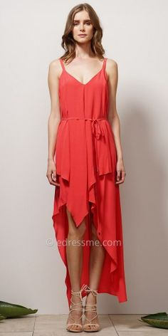 Ruffle Tiered Belted Dress by EDM Private Collection #edressme