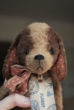 Artist Bear handmade Puppy Flossy SOLD by bearwithmee on Etsy, £110.00