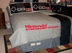 NES BED - as a kid I'd have loved it. #fanart #nintendo