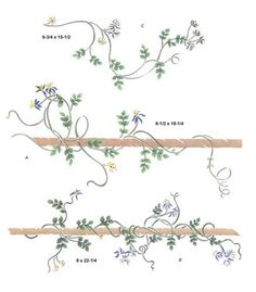Star Clematis Wall Stencil by DeeSigns