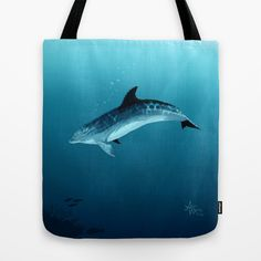 """Blackfin"" Dolphin Art by Amber Marine 