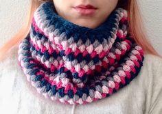 bufanda cuello de algodón de diferentes colores. De lana y alpaca. hecho a mano a crochet. de myladiescrochet en Etsy