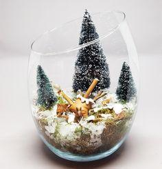 DIY tutorial: Make a Christmas Terrarium  via DaWanda.com