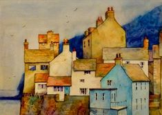 Malcolm Coils「Staithes cottages」