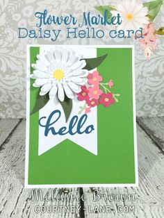 Hello, friends!   Today, I have a card that I made using the Flower Market cartridge. The inspiration for the card actually came from a bo...