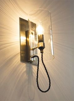 Claro 2 sconce from atelier gary lee - striped lighting #wall #lighting  shadows
