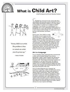"Parent Handout, ""What is Child Art?"" (free; from Art & Creativity in Early Childhood Education)"