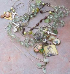 My Little China Girl Rosary Necklaces Vintage Asian by angels9, $69.00
