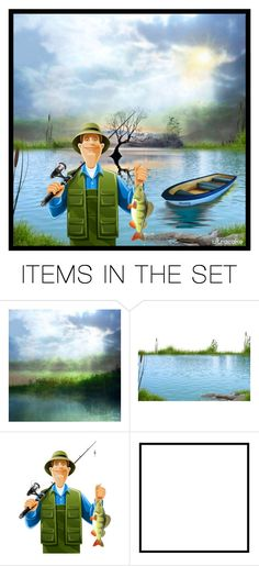 """""""Catch of the Day"""" by ultracake ❤ liked on Polyvore featuring art, Fishing, artset, promo and ultracake"""