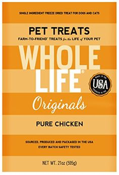 Whole Life Pet Single Ingredient USA Freeze Dried Chicken Breast Treats Value Pack for Dogs and Cats 21Ounce >>> Details can be found by clicking on the image.