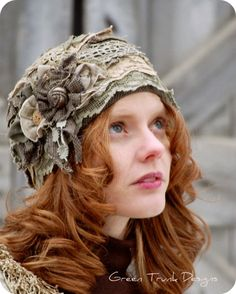 Forest Fairy Cloche Hat.