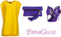 Take a Look at Yellow & Purple Fascination + Fascinación de Amarillo y Morado!!! http://bravechica.blogspot.com/2013/06/yellow-purple-fascination-fascinacion. @BraveChica #Fashion #Style #Trends
