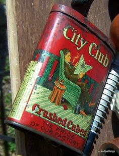 Antique City Club Crushed Cubes Pocket Tobacco Tin-Burley Tobacco Co.Edit item   Reserve item       $125.00