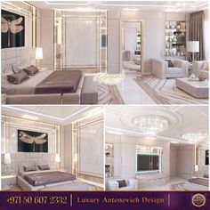 Modern interior design and luxurious decorating ideas blending contemporary lighting with classy furnishings and unique accents create spectacular room! A wide variety of expensive decorating materials and textures enrich modern interior design and add interest to life space!✨ Contact us now!