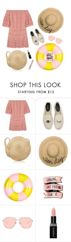 """""""SUMMER IN PASTEL"""" by iris-dmitrieva ❤ liked on Polyvore featuring Madewell, Soludos, Eugenia Kim, ban.do, Gentle Monster, Smashbox and L'Oréal Paris"""
