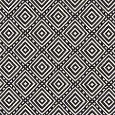 Jacquard Diamond - offwhite - Jacquard - Black & white - Geometry - myfabrics.co.uk